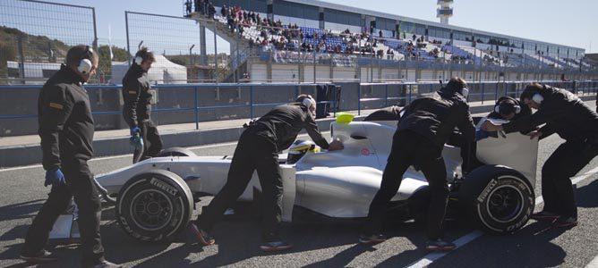 Imagen de los últimos test en Jerez