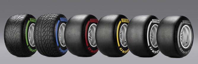 Los nuevos colores de cada tipo de neumático en 2012