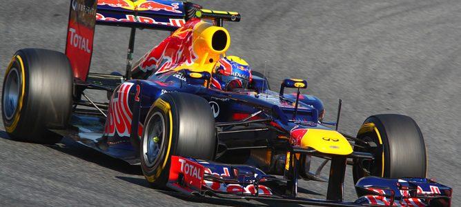 Mark Webber en Barcelona
