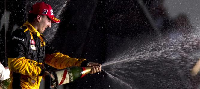 Kubica en el podio del Gran Premio de Australia