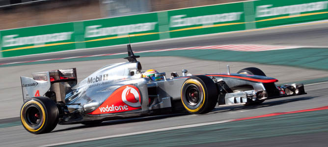 El McLaren en pretemporada