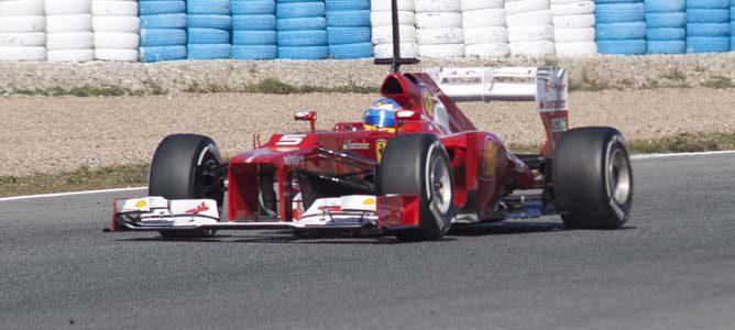 El Ferrari en pretemporada