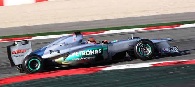 El Mercedes en pretemporada