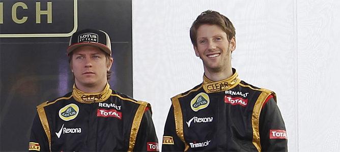 Kimi Räikkönen y Romain Grosjean