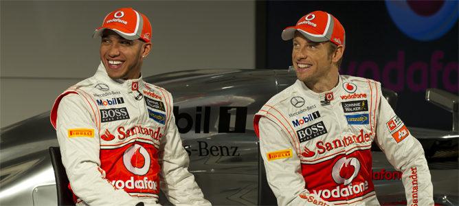 Lewis Hamilton y Jenson Button