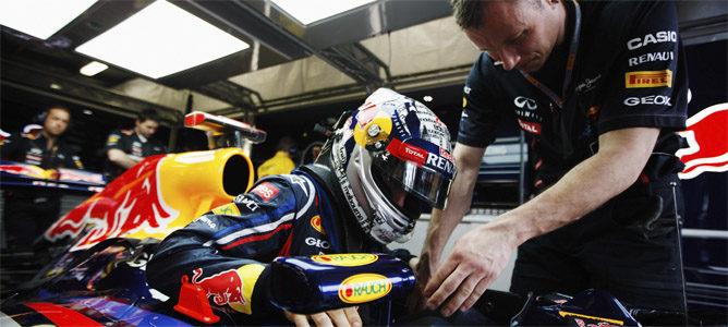Vettel se sienta en su nuevo RB8