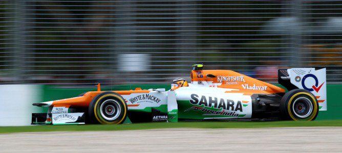 Nico Hülkenberg a los mandos de su Force India en el circuito de Albert Park