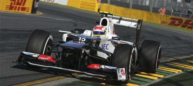 Pérez rueda en el circuito de Melbourne