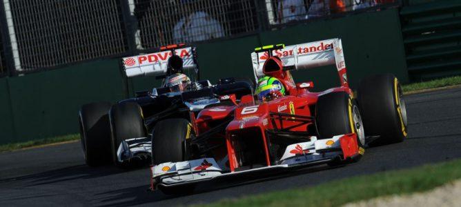Maldonado en el GP Australia 2012