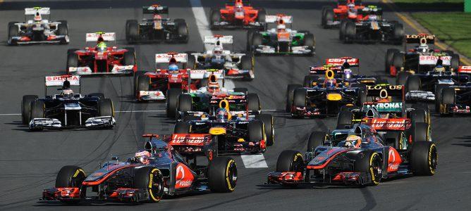 Salida GP Australia 2012