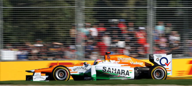 Un Force India en Albert Park