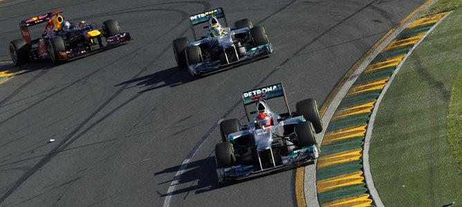 Los dos Mercedes en Albert Park
