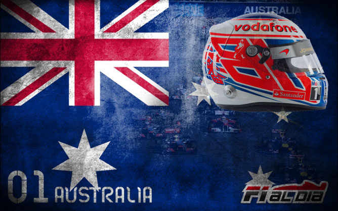 Cartel anunciador del GP de Australia elaborado por F1aldía