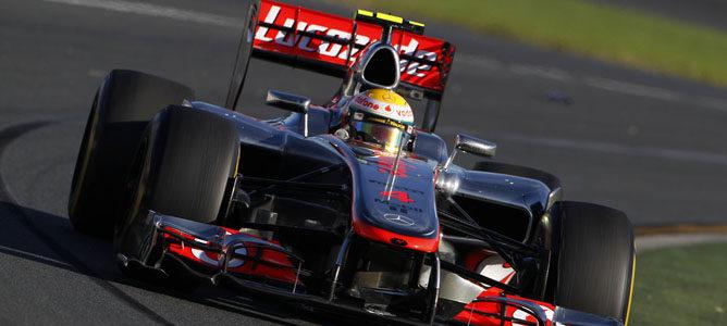 Lewis Hamilton en el circuito de Albert Park