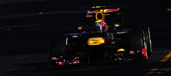 Mark Webber en el circuito de Albert Park