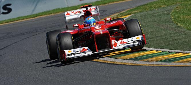 Fernando Alonso en el circuito de Albert Park