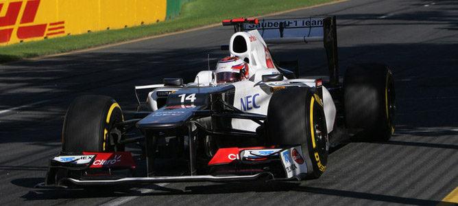 Kamui Kobayashi en el circuito de Albert Park