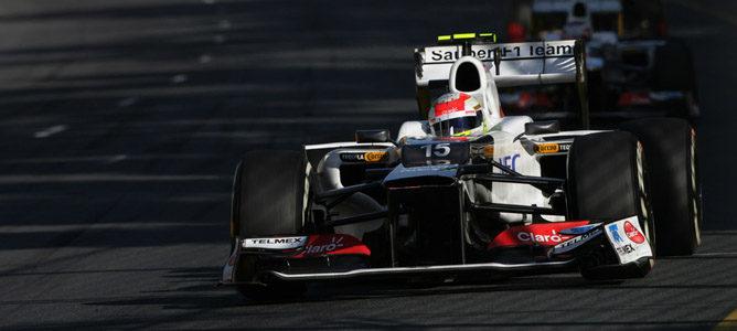 Sergio Pérez en el circuito de Albert Park
