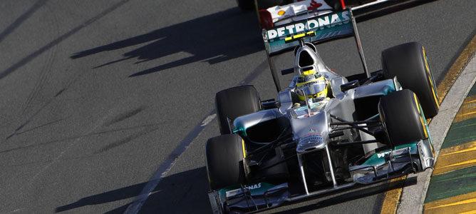 Nico Rosberg en el circuito de Albert Park
