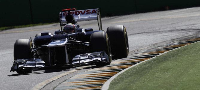 Pastor Maldonado en el circuito de Albert Park