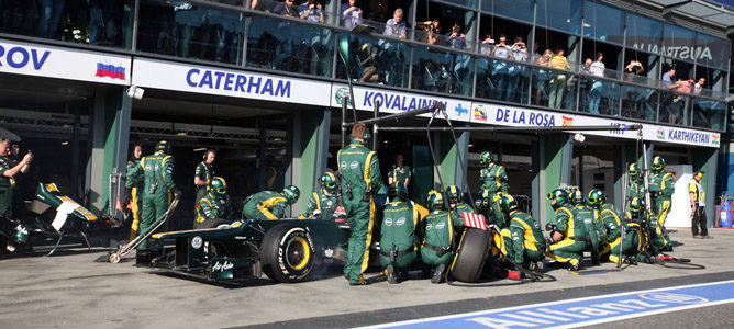 Heikki Kovalainen en el circuito de Albert Park