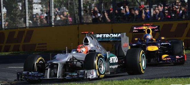 Michael Schumacher en el circuito de Albert Park