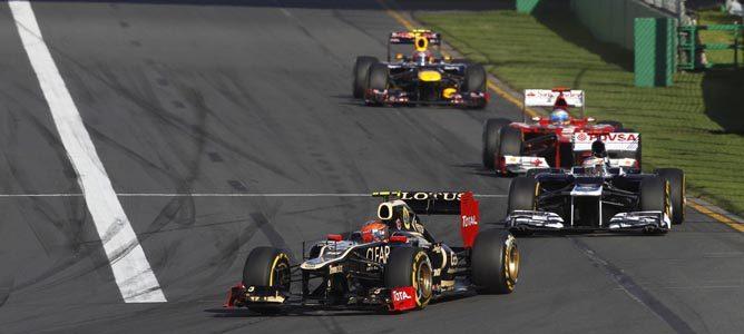 Romain Grosjean en el circuito de Albert Park