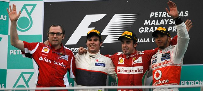 podio GP de Malasia 2012