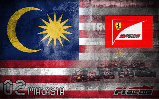 Cartel anunciador del GP de Malasia