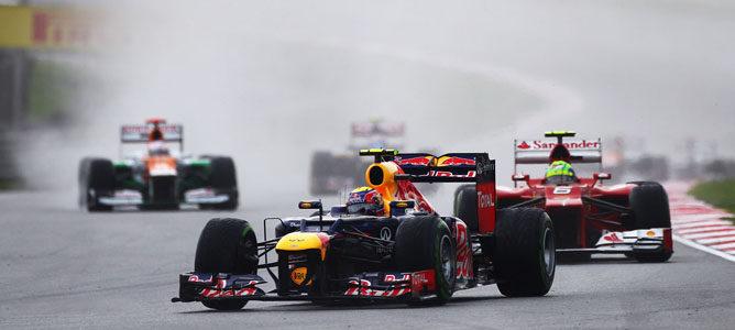 Un Red Bull sobre el asfalto de Sepang
