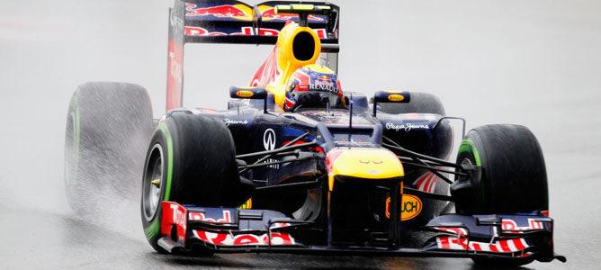 Mark Webber en el circuito de Sepang