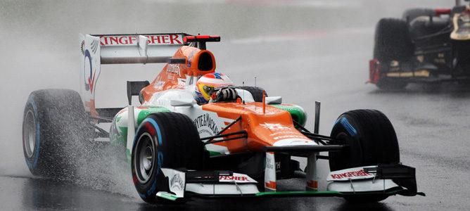 Paul di Resta en el circuito de Sepang