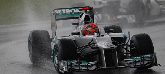 Michael Schumacher en el circuito de Sepang