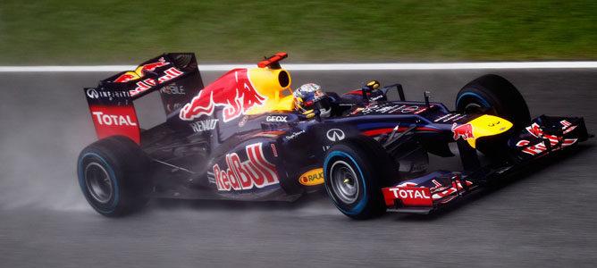 Sebastian Vettel en el circuito de Sepang