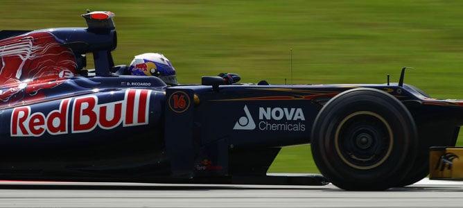 Daniel Ricciardo en el circuito de Sepang