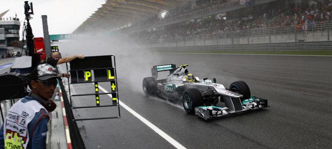 Nico Rosberg en el circuito de Sepang