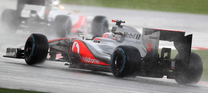 Jenson Button Webber en el circuito de Sepang