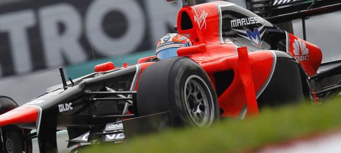Timo Glock en el circuito de Sepang