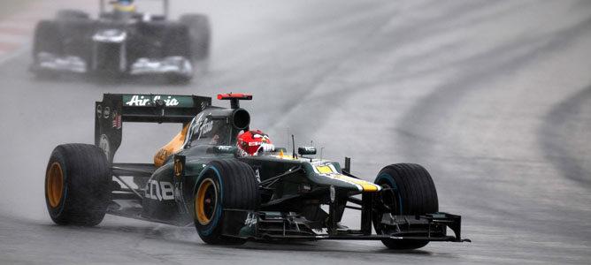 Heikki Kovalainen en el circuito de Sepang