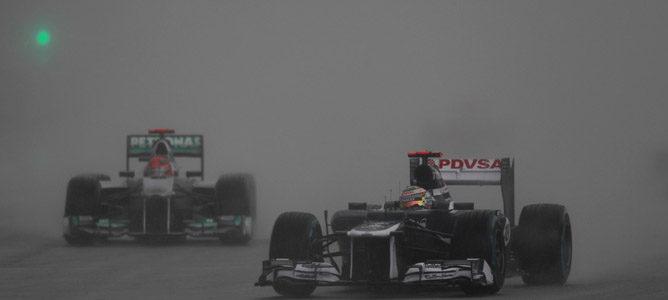 Pastor Maldonado en el circuito de Sepang