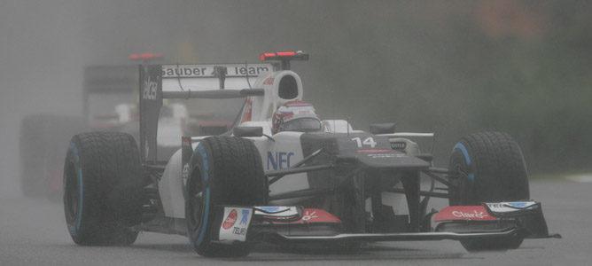 Kamui Kobayashi en el circuito de Sepang