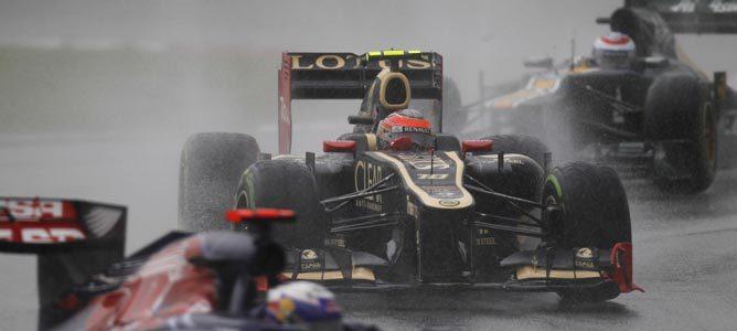 Romain Grosjean en el circuito de Sepang