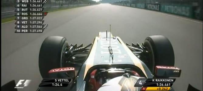 Räikkönen cruza la meta en Q3