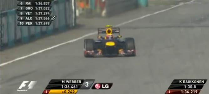 Webber cruza la meta en Q3
