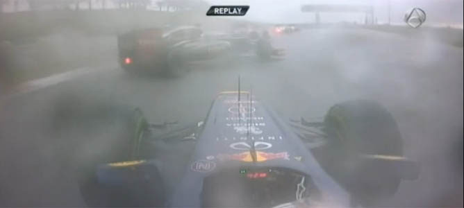 La maniobra entre Grosjean y Schumacher