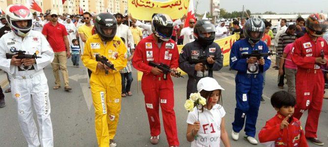 Protestas en contra de la celebración de la F1 en Baréin
