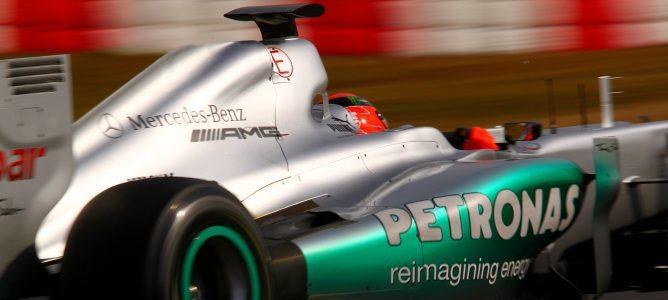 Schumacher marca el mejor tiempo en los libres de china