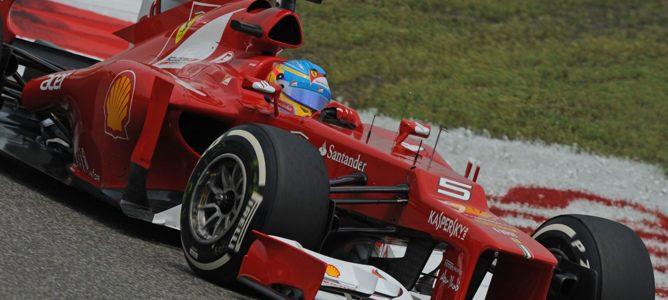 Fernando Alonso en la carrera del GP de China 2012
