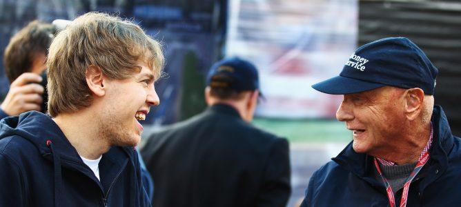 Niki Lauda y Sebastian Vettel
