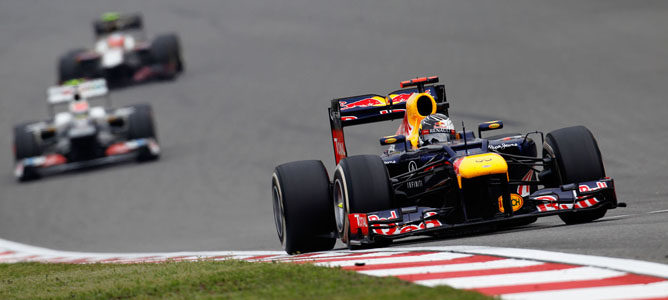 Un Red Bull en el GP de China